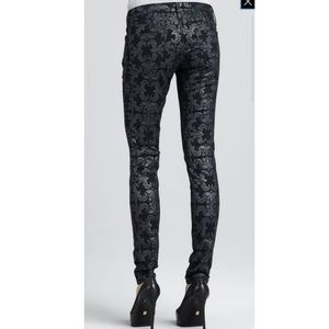 AG Adriano Goldschmied Damask Brocade jeans